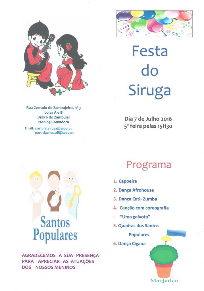 Programa da Festa do SIRUGA